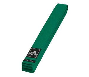 adidas Gürtel grün Judo Karate Ju-Jutsu Taekwondo - 40 mm - Budogürtel