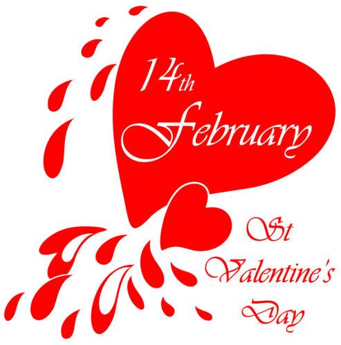 ST VALENTINES DAY CRYING HEART VINYL RETAIL SHOP WINDOW DISPLAY Sticker V7