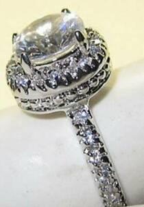 Enfatizar Agua con gas éxito  Anillo Boda Compromiso Swarovski Piedra Oro Blanco Natalie Redondo 6 8 9 10  Nwt | eBay
