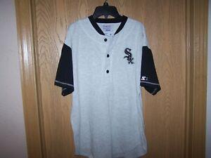 CHICAGO-WHITE-SOX-MLB-GENUINE-MERCHANDISE-STARTER-3-BUTTON-SHIRT-MEN-M