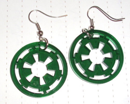 80s Super Star Wars Imperial Logo charm Pendientes Kitsch Kawaii Fancy