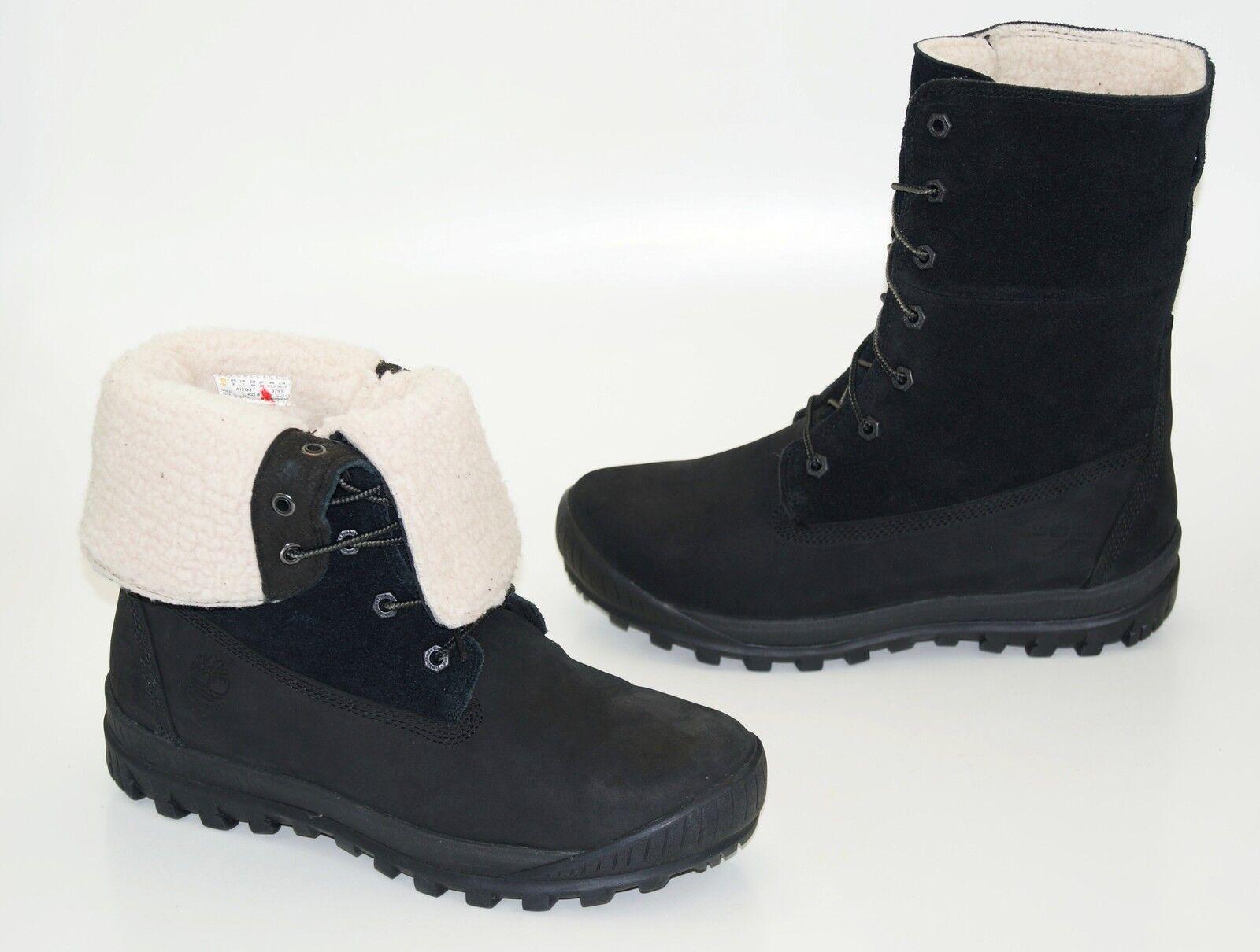 Timberland WOODHAVEN FLEECE ROLL-DOWN Boots Waterproof Damen Winter Stiefel NEU
