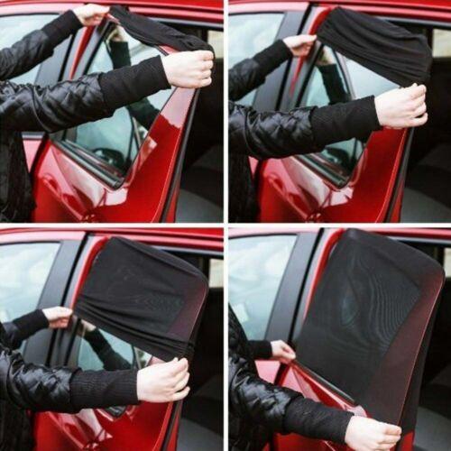 KFZ Rückseitenfenster Sonnenschirm UV-schutz Sonnenblende groß schwarz LKW 2x