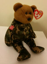 Ty Beanie Baby ~ HERO the USA Army Military USO Bear ~ MINT with MINT TAGS