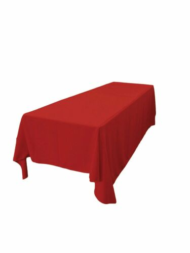 """Party lovemyfabric Polyester Holiday Dinner Tablecloth 50/"""" x 84/"""" Cranberry"""
