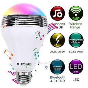 Alloyseed-Bluetooth-Kontrolle-Smart-Musik-Lautsprecher-LED-RGB-Birnen-Lampe