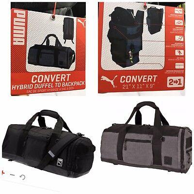 NWT PUMA Mainline CONVERT HYBRID DUFFEL BAG pick color Backpack Duffel 2 in  1 07942634c9