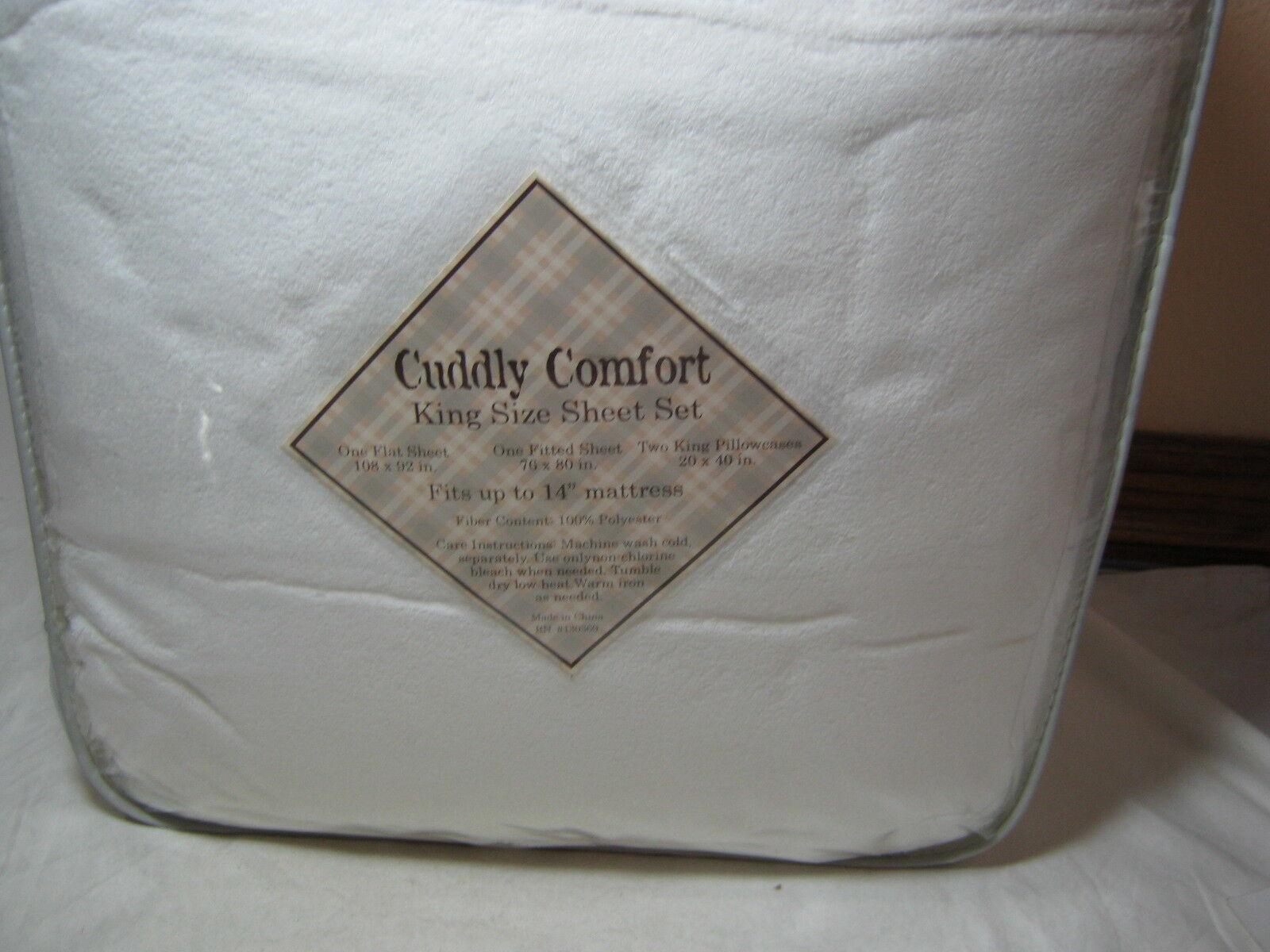 New Super Soft and Comfy Cuddly Comfort King Größe Sheet Set - Weiß - NIP