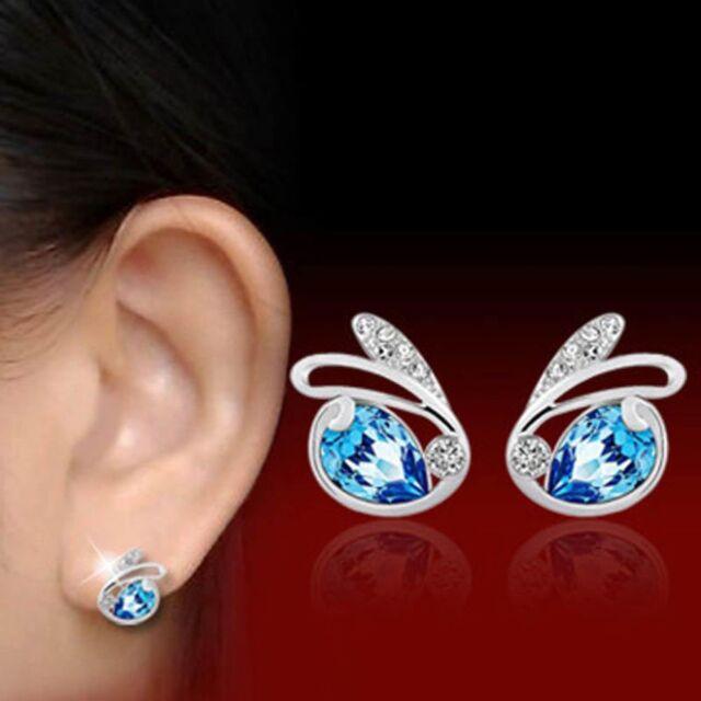 ade67d3fcbabe Cute Cheap Pendientes Charms Stud Rhinestone Crystal Rabbit Earrings for  Women