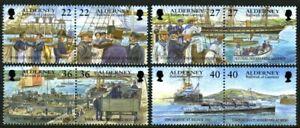 Diplomatique Alderney 2001 Garnison Island Part 5 Set Of All 8 De Timbres Commémoratifs Neuf Sans Charnière Un-afficher Le Titre D'origine