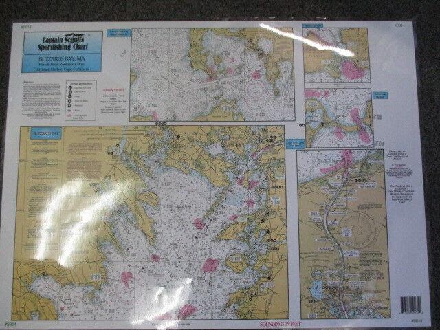 Sportfishing Chart Buzzards Bay Ma Laminated 19 X 26 Capt Seg Bb14 For Online Ebay