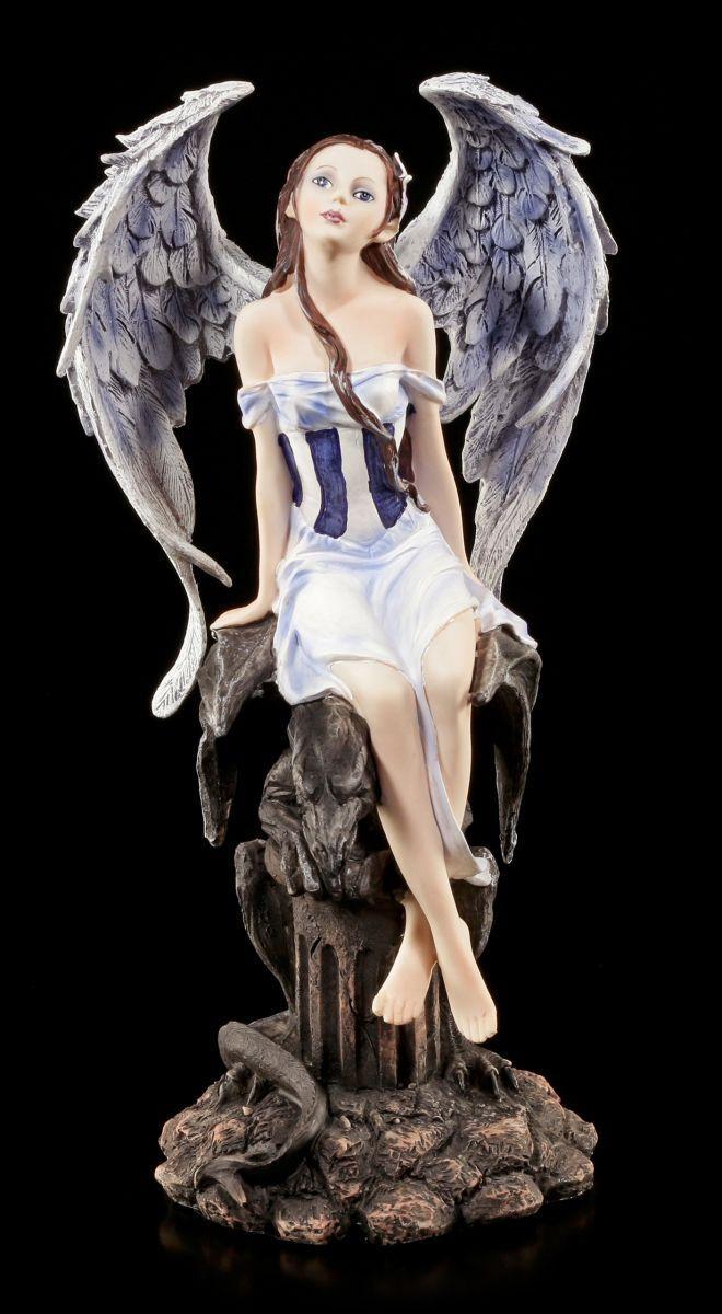 Ángel Figura con Garra - Luz & Oscuridad - Gárgola Fantasy Hada Elfo Decoración