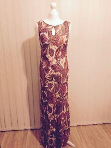 BNWOT-Jaeger-Paisley-Print-Maxi-Dress-Size-12