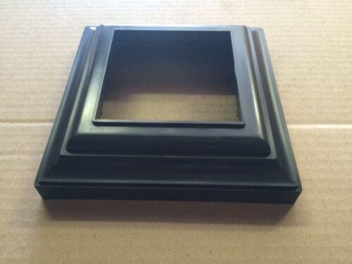 Column Trim Ring---- Black PVC Vinyl 3 x 3 Post Base Deck Railing