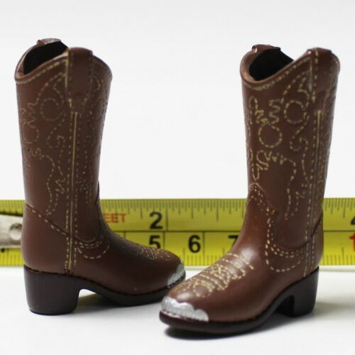 """1:6th Accessory Brown Western Cowgirl Boots Model For 12"""" Female Figure Doll"""