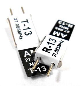27mhz-Am-Transmisor-y-Radio-RC-Set-de-Cristal-27MHZ-27-085-Tx-Y-Rx-Negro-Ch-13