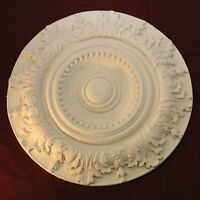 Ceiling Rose Victorian Design Beaded Middle With Leaf Surround 500mm