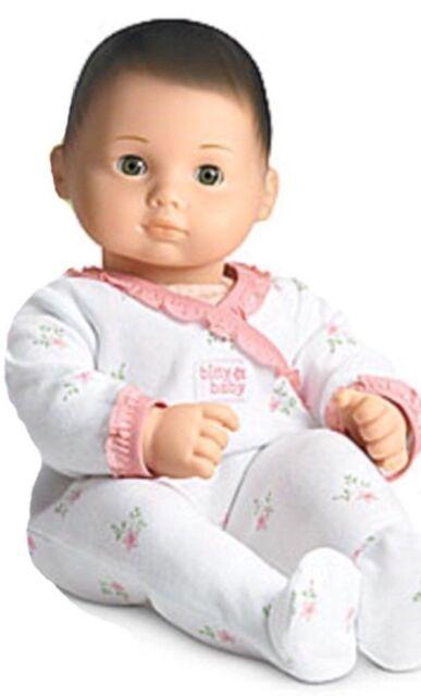 American Girl Bitty Baby Doll Brown Hair Light Skin Green Eyes Dfn05