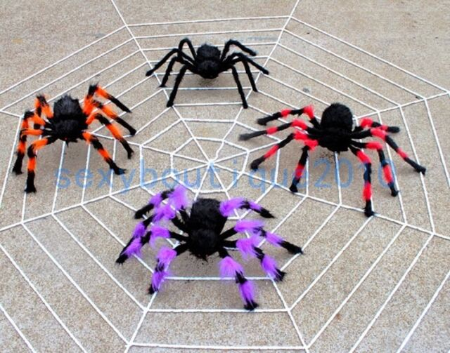Plush Spider Halloween Prop Spider Indoor Outdoor Parties Bar DIY Decorations