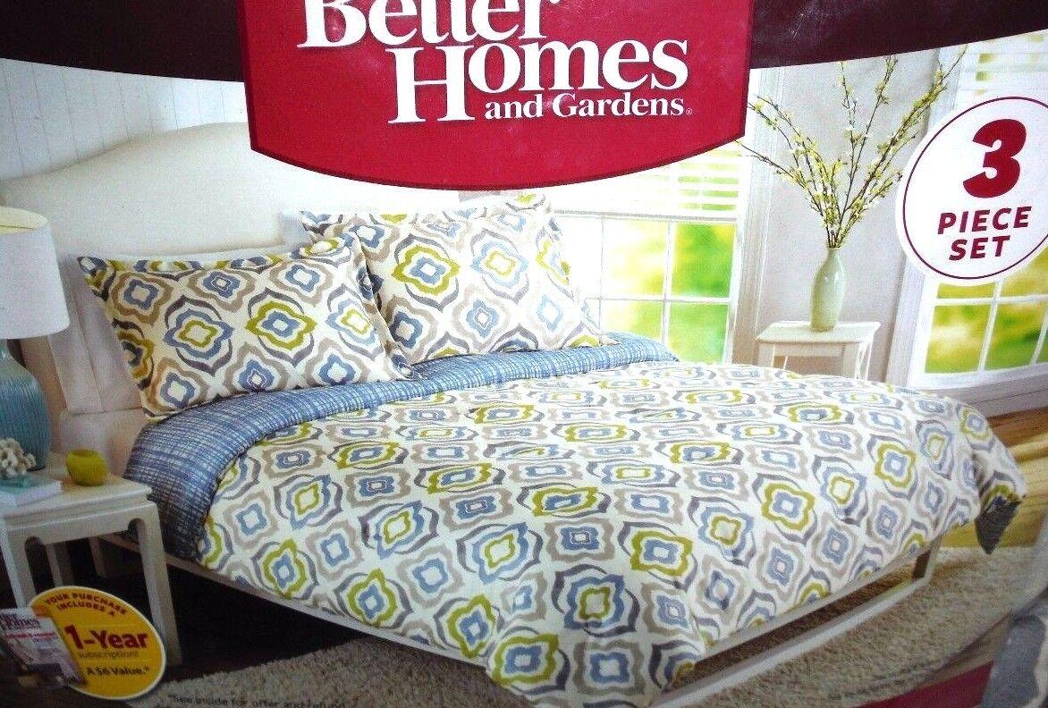 Better Homes & Gardens Elements Reversible Geometric Full Queen 3-Pc Comforter