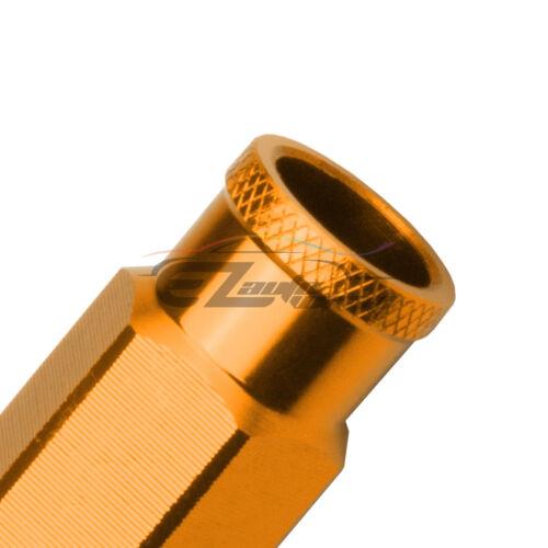 Gold 20 PCS M12X1.5mm Screw Lug Nuts Short Tuner Aluminum Wheels Rims Cap WN01