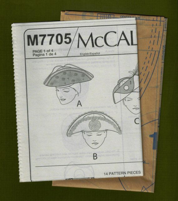 Misses Hats Sewing Pattern~Steampunk~Costume Sizes XS-L McCalls 7705