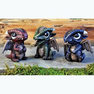 Miniature Fairy Garden Baby Dragons set of 3 SPECIAL LISTING