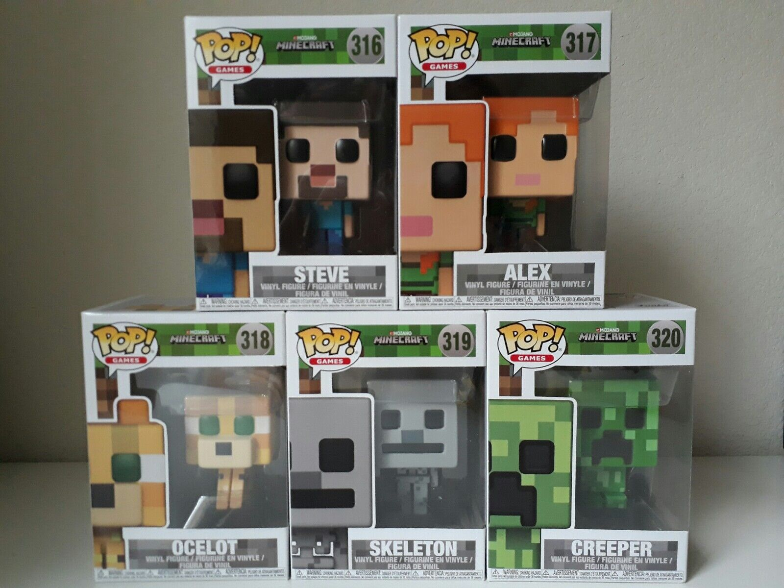 Funko POP  Games Minecraft Full Set