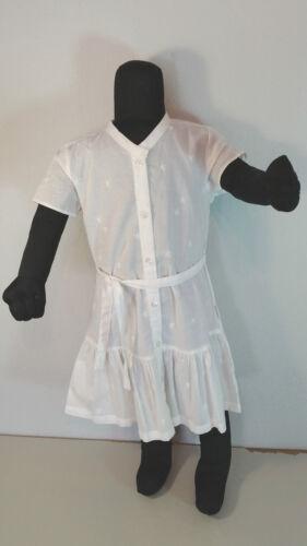 134 weiß Baumwolle Kurzarm NEU VINROSE Mädchen   Sommerkleid Gr 98