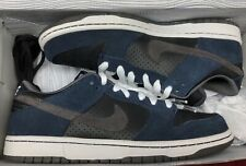 39e80ba3 2009 Nike Dunk Low Pro SB Osidian Blue Midnight Blue Fog Black White Grey  Sz 9