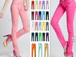 Pantalon Crayon Slim stretch Collant Couleur Bonbon Skinny Pants ... 0edbc7fb121e