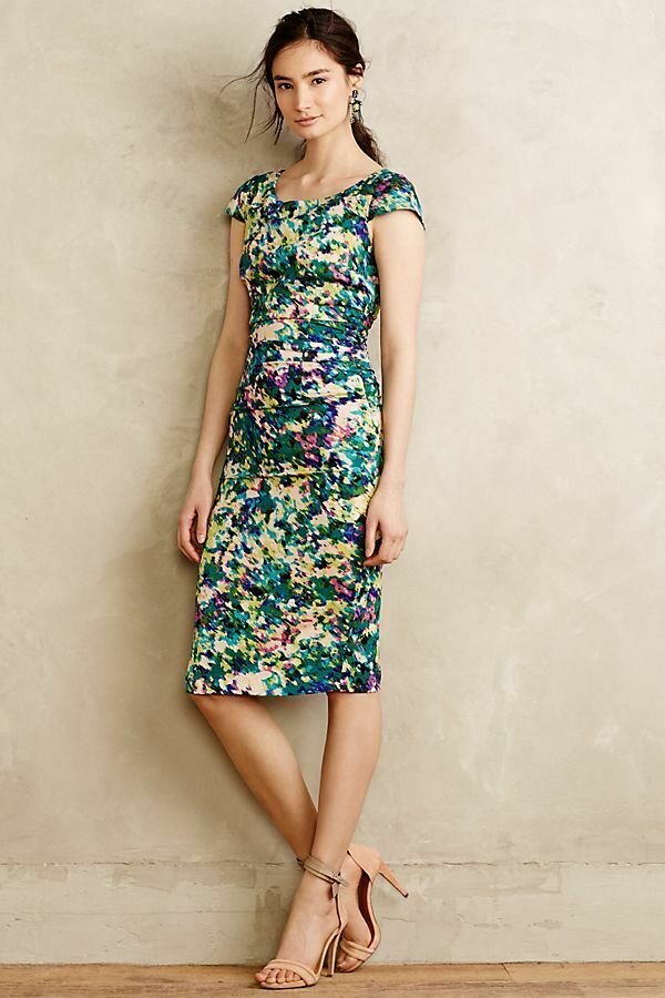 NWT Anthropologie Dappled Oasis Dress By Tracy Reese Size 2
