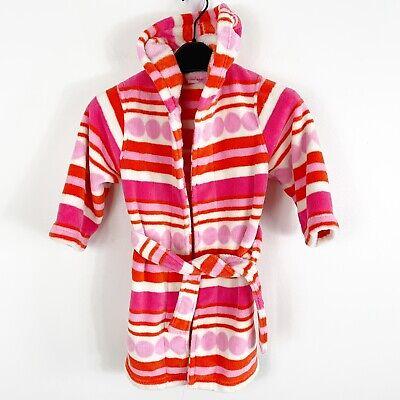 Tate Nordstrom Girls Fuzzy Cozy Bath Robe Pink Red White Stripe Size 3 Spirited Tucker Baby & Toddler Clothing
