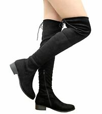 dbd937732 item 1 Ladies Womens Stretchy Thigh High Over The Knee Boots Low Block  Heels Shoes Size -Ladies Womens Stretchy Thigh High Over The Knee Boots Low  Block ...