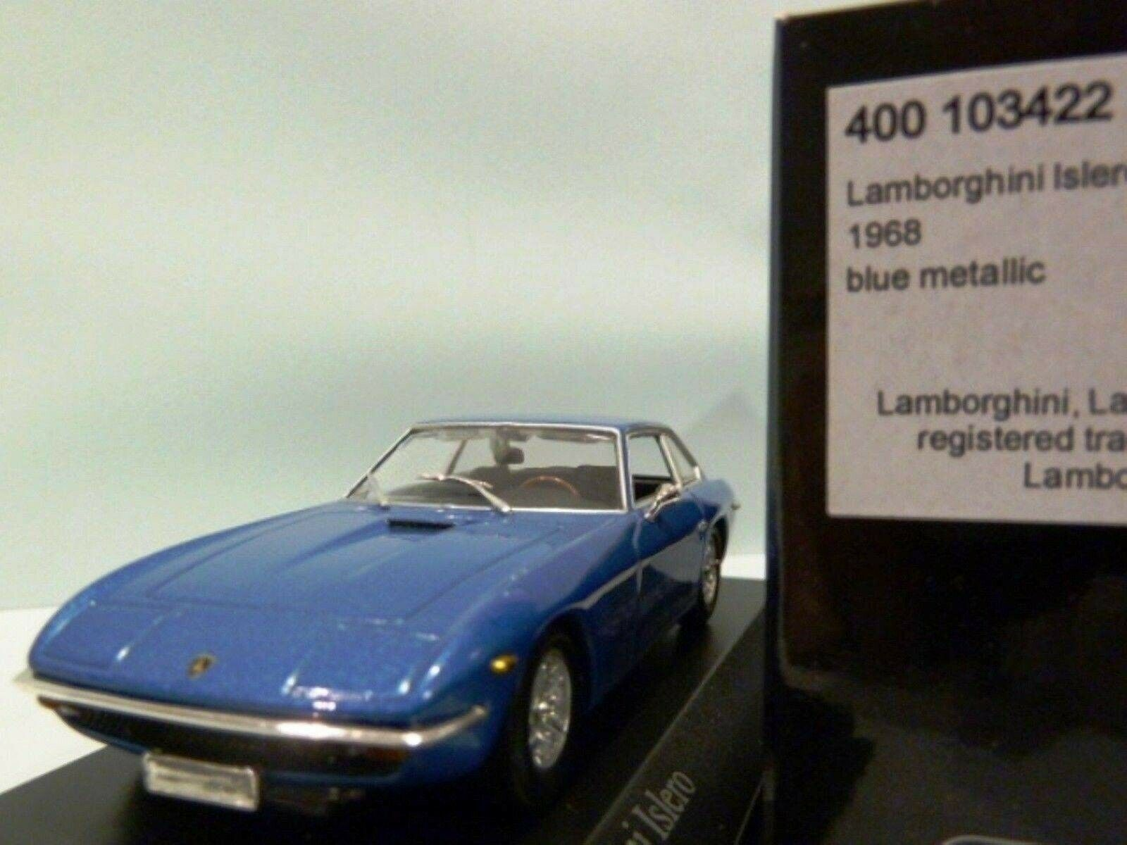 Wow Wow Wow extrêmement rare LAMBORGHINI ISLERO 22 1968 bleu M 1 43 Minichamps-Espada GT 805b8b