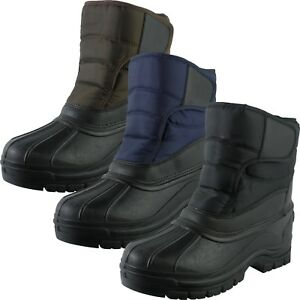 Snow-Warm-Grip-Mucker-Boots-Winter-Thermal-Welly-Wellington-Shoes-Waterproof