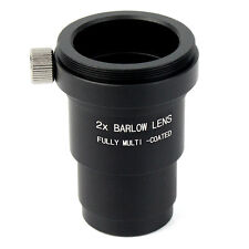 Metal 1.25''/31.7mm  2X Barlow Lens M42x0.75 Thread For Telescope Eyepieces Best