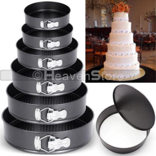 SET OF 3 /& 6 ROUND CAKE TIN SET NON STICK SPRING FORM LOOSE BASE BAKING PAN TRAY
