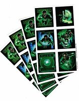 4 Sheets Green Lantern Scrapbook Stickers Super Hero Ryan Reynolds