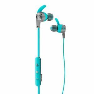 Monster Wireless Bluetooth-Kopfhörer iSport Achieve in-Ear Sweat-Proof Blau