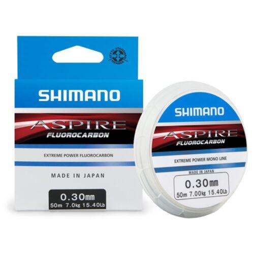 2.00kg monofil,ASFLR5016 50m Shimano Aspire Fluorocarbon transparent 0.16mm
