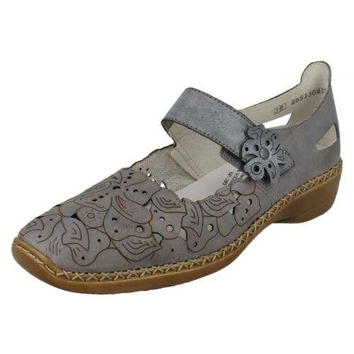 Jane Shoes Blue Leather 41358 Ladies Rieker Bar Mary Casual SRwxAWOqBf