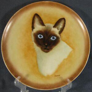 Siamese-Cat-Decorative-Plate-Hand-Painted-Laurene-10-3-8-034