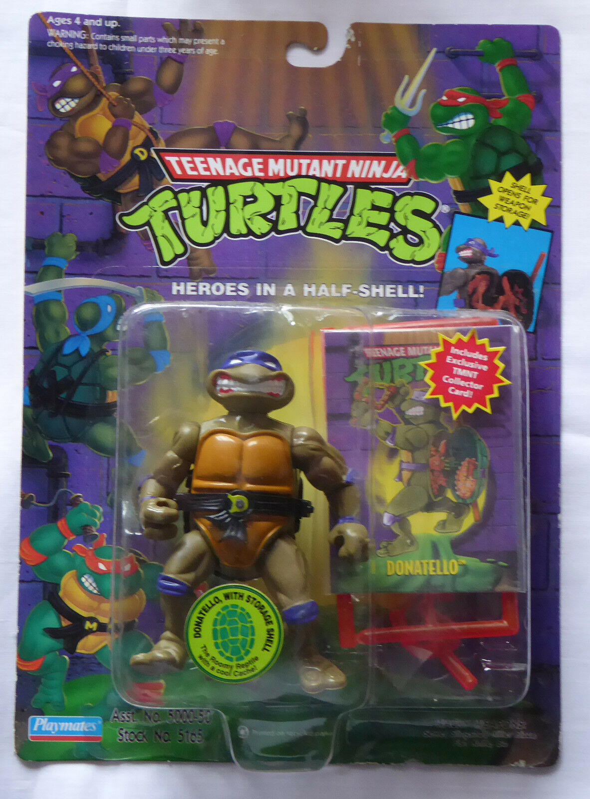 1991 TMNT Turtles figure Storage Shell Donatello - MISB (1994 version)