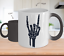 Rock on Skeleton Hand Changing Color Mug Halloween Fiesta Morphing cup