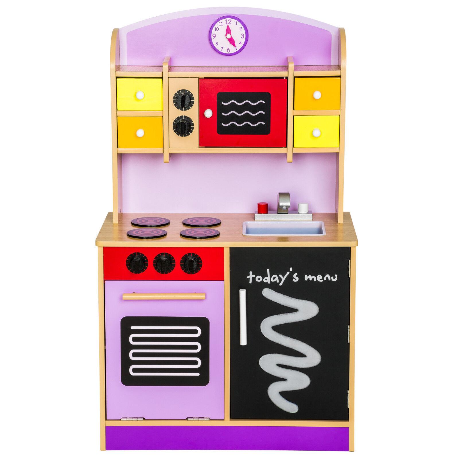 Kinderküche aus aus aus Holz Kinderspielküche Spielküche Spielzeugküche Küche Lila 55d610