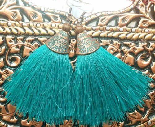 Vintage Fancy Cotton Tassel Earring Thread Tassle Earrings Womens Gift