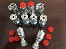 1js43 6 6 Aftermarket Hydraulic Hose Fittings 38 Flat Face Seal 10 Pk