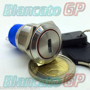 SELETTORE-DEVIATORE-A-CHIAVE-19mm-IN-METALLO-ACCIAIO-INOX-commutatore-antifurto