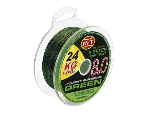 WFT Kg 8.0 Green 150m Various Thickness Braided Cord Predator Cord